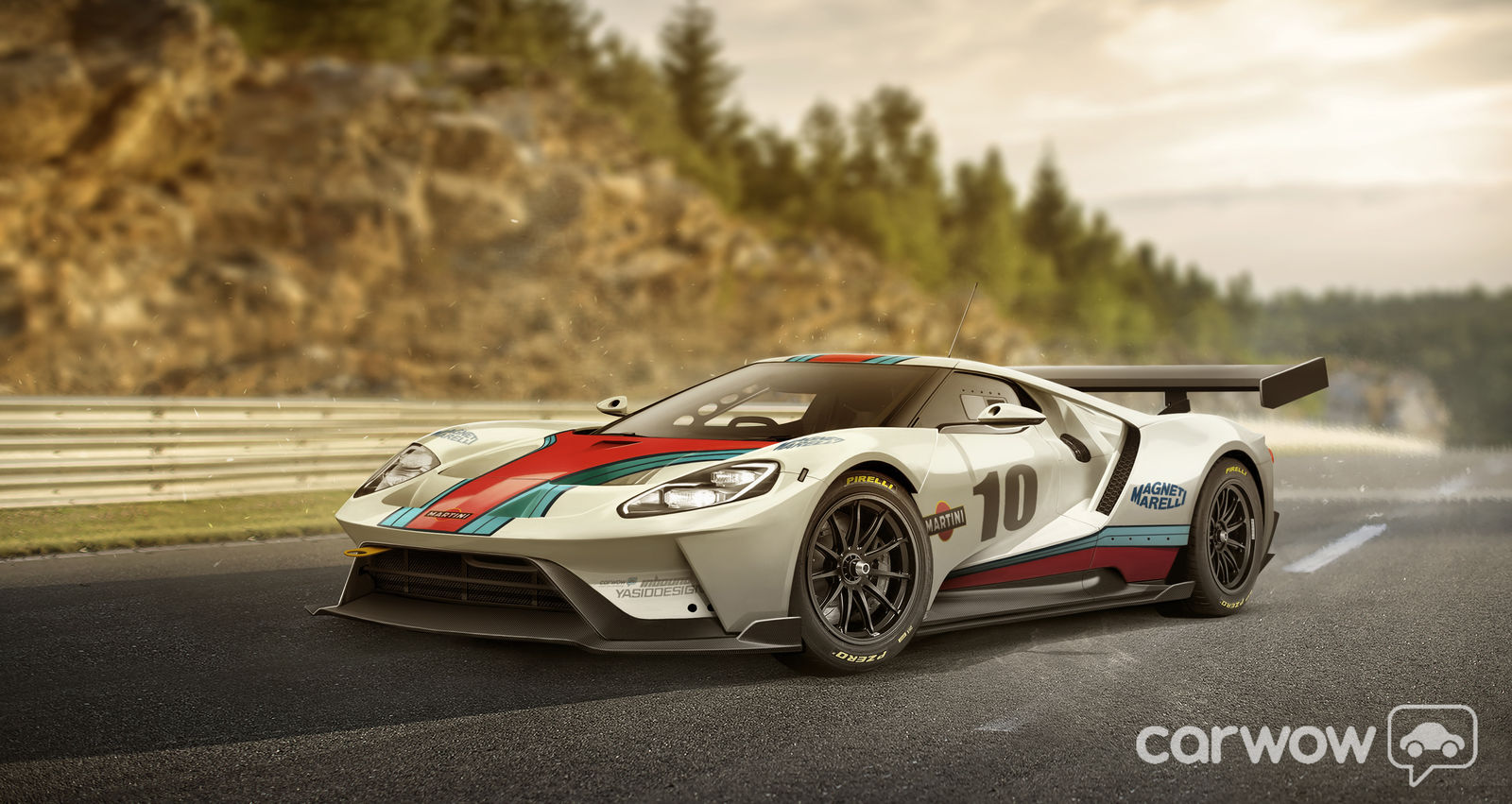 2016 Ford GT GT3 Martini race car imagined by carwow | carwow