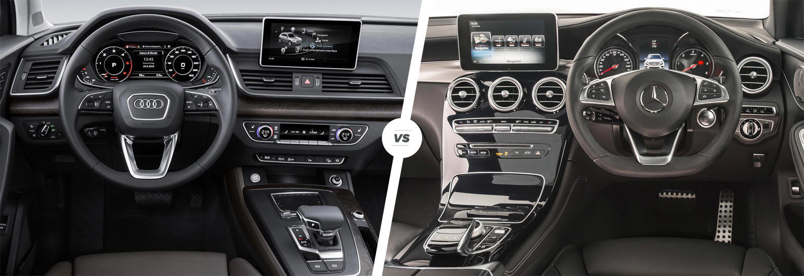 mercedes glc vs audi q5 suv comparison carwow. Black Bedroom Furniture Sets. Home Design Ideas