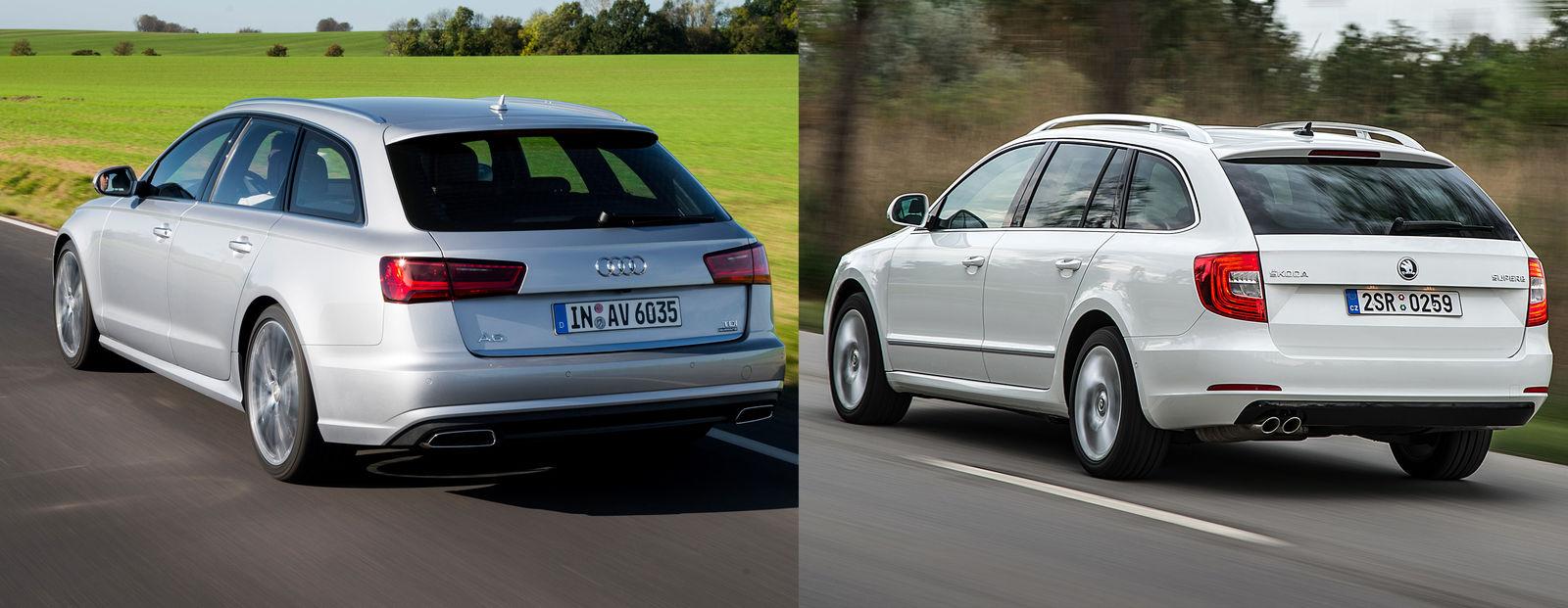 Skoda Superb Estate Vs Audi A6 Avant Family Estate Cars
