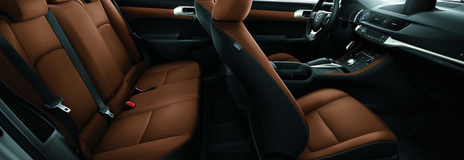Car interior material - Leather Interior On A Lexus Ct200h Increases Premium Feel
