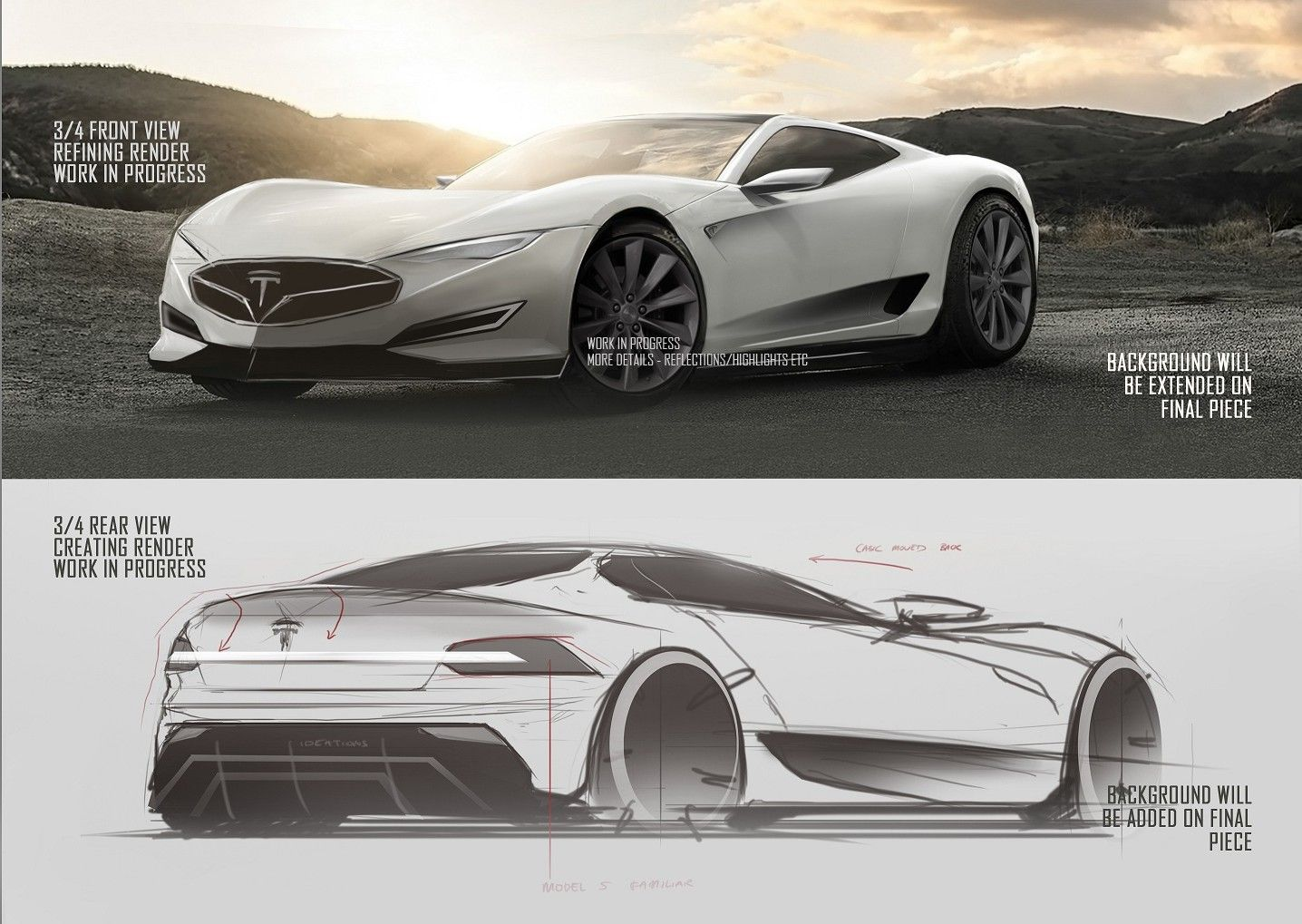 2016 Tesla Model R Hypercar Concept Design Sketches Carwow