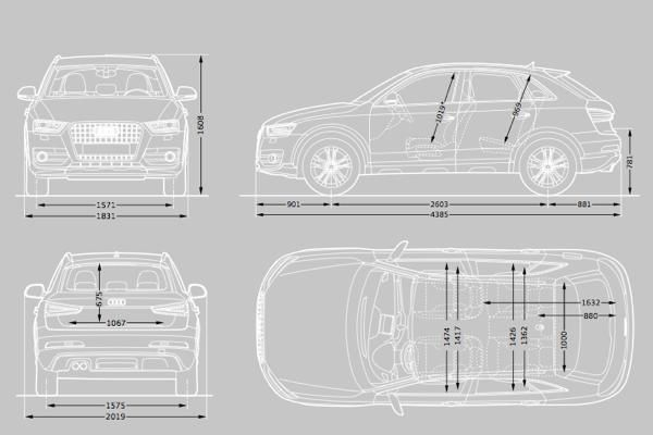 audi q3 dimensions  u2013 uk exterior and interior sizes