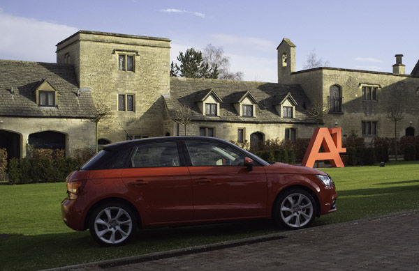 Audi A1 Sportback red and black
