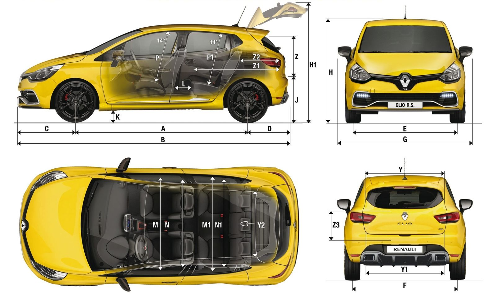 renault clio sizes and dimensions guide carwow. Black Bedroom Furniture Sets. Home Design Ideas