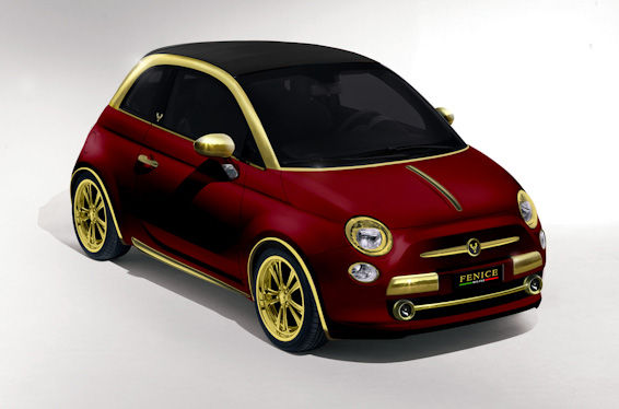 Fiat 500C Gold Red