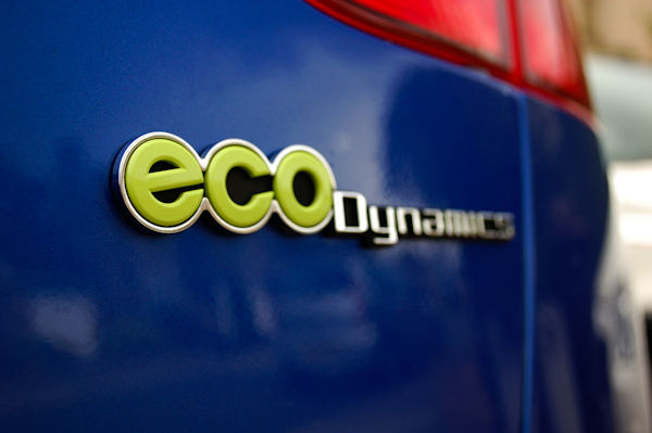eco badge kia rio