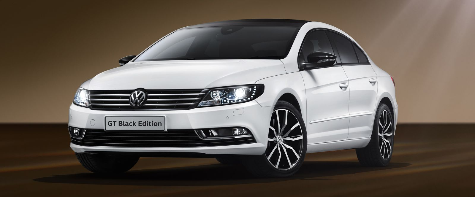 volkswagen black. white is the standard colour for black edition volkswagen