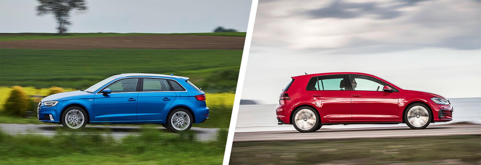 Audi a3 vs vw golf driving