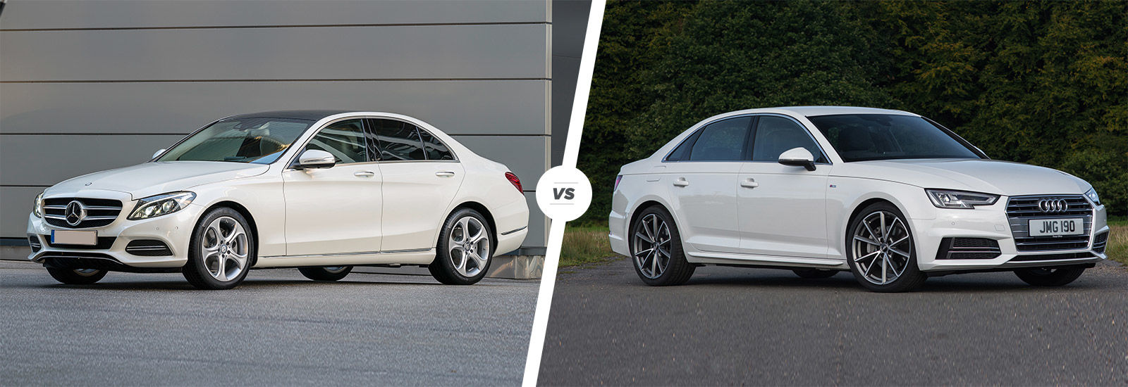 mercedes c-class vs audi a4 comparison | carwow