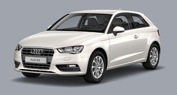Audi a3 Saloon Amalfi White