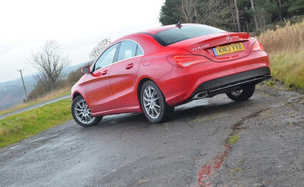 Mercedes CLA rear angle