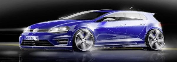 VW Golf R sketch