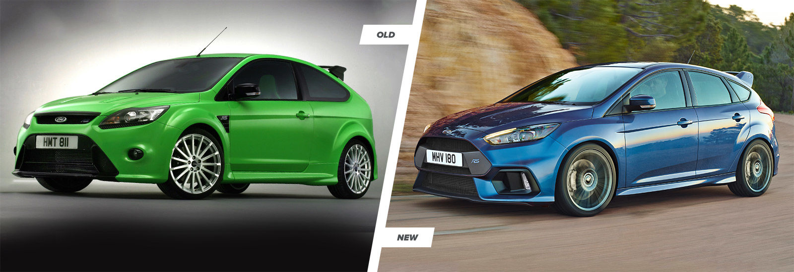 ford focus rs old vs new hot hatches compared carwow. Black Bedroom Furniture Sets. Home Design Ideas
