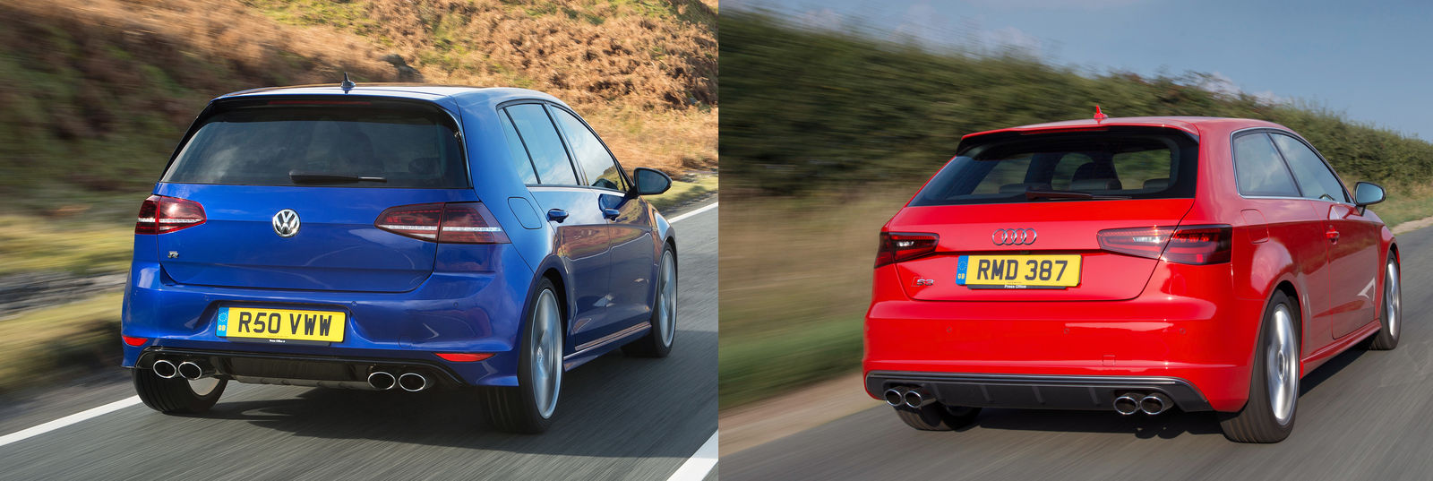 volkswagen golf r vs audi s3 which is the best super hatch on sale in the uk carwow. Black Bedroom Furniture Sets. Home Design Ideas