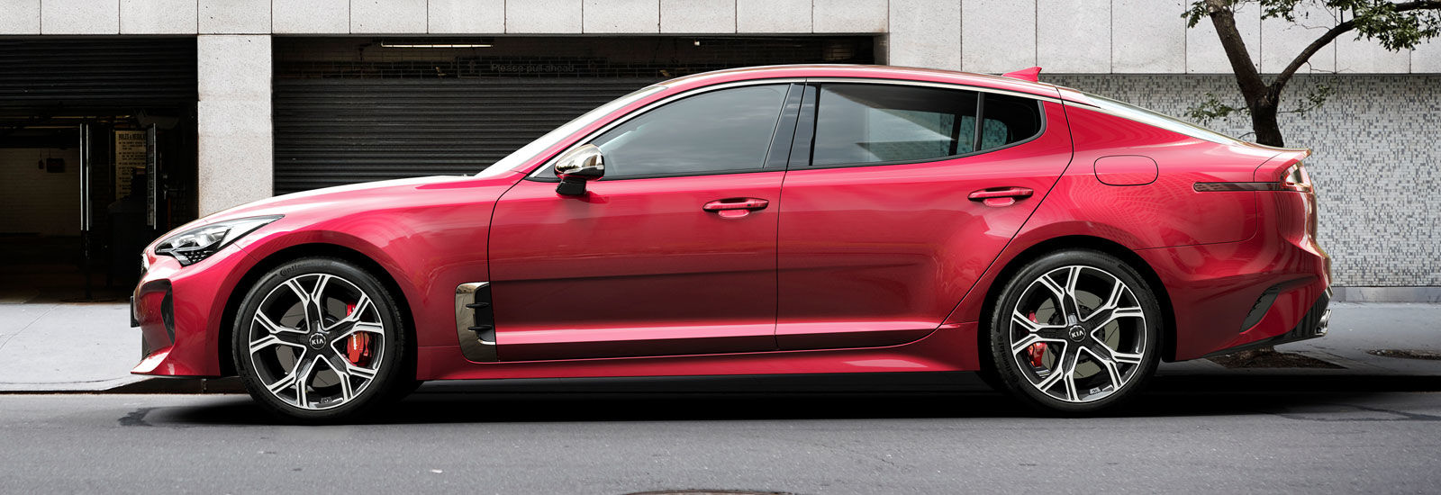 2018 kia gt. unique 2018 red kia stinger gt side profile shot in 2018 kia gt