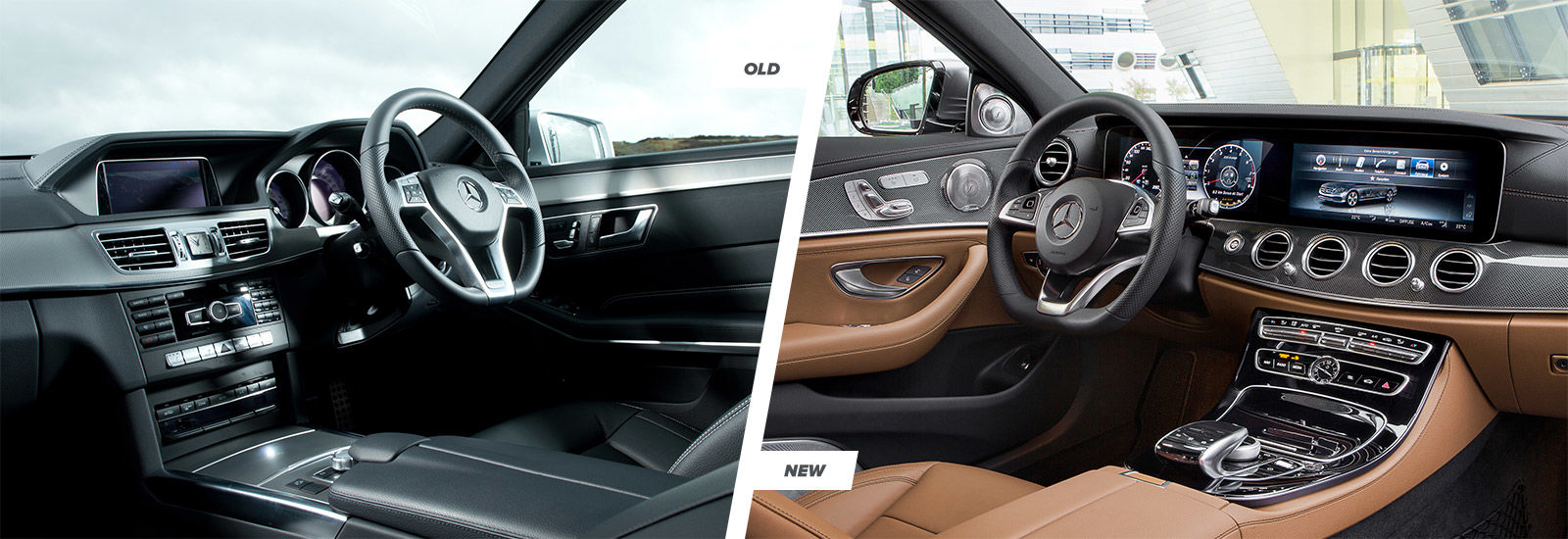 mercedes e class old vs new compared carwow. Black Bedroom Furniture Sets. Home Design Ideas