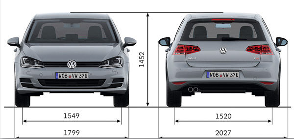 VW Golf Dimensions ? UK Exterior and Interior Stats
