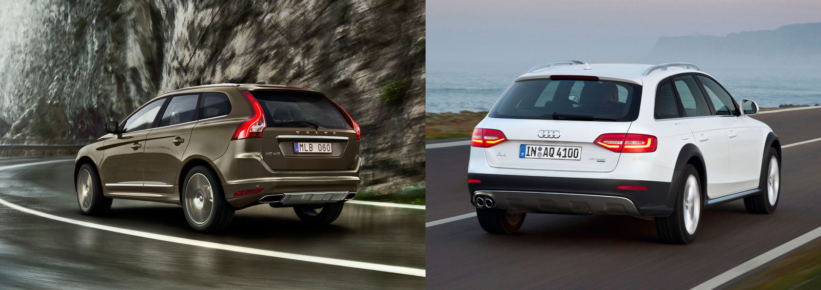 Volvo XC60 vs Audi A4 Allroad  UK side by side comparison  carwow