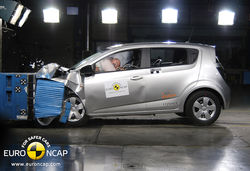 Chevrolet aveo crash