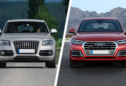 Audi q5 old vs new front lead