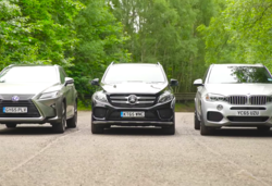 Carwow lexus rx vs mercedes gle vs bmw x5 lead