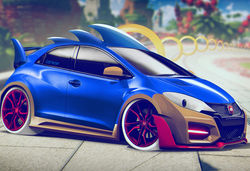 Carwow video game cars lead sonic honda civic type r